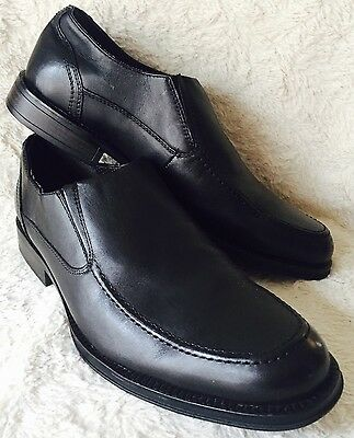 CHAPS Black Leather Slip On Loafer Dress Shoes Mens Size 11 M