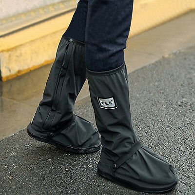Waterproof Motorcycle Biker Reflective Rain Boot shoes Footweaar Cover Black usw