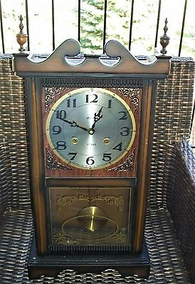 Vintage Alaron 31 Day Winding Chime Wall Clock-With Key-Manual-Collectible-WOW