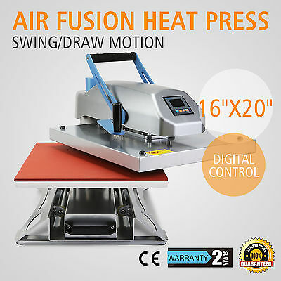 16X20 Air Fusion Heat Press Transfer Machine T-Shirt Photo Pneumatic Sublimation