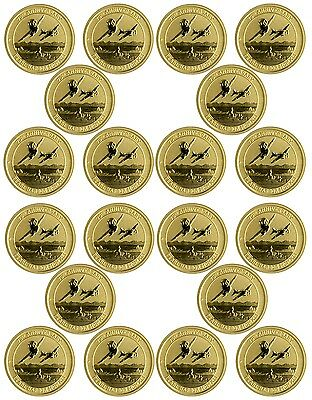 2016-P $15 Pearl Harbor Perth Mint 1/10 oz. .9999 Gold Coin - Lot of 20