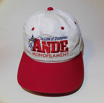 New Old Stock ANDE Monofilament Fishing Line Baseball Hat Cap Adjustable