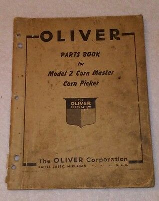 Oliver Parts Book For Model 2 Corn Master Corn Picker