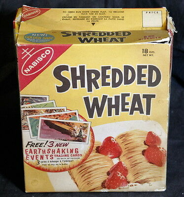 Vintage 1950's Nabisco Shredded Wheat 18 oz. Box, Made in Canada