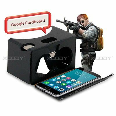 Cardboard Quality 3D VR Virtual Reality Glasses For Google,Samsung S8,Android