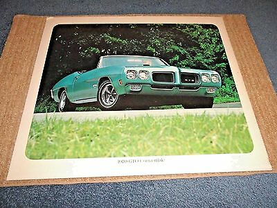 1970 Pontiac Gto Convertible Original Dealer Showroom Poster Very Nice Read