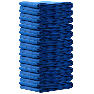 "60LBS Moving Blankets 12 PC  72"" x 80"" Blanket Padded Furniture Pads Protection"