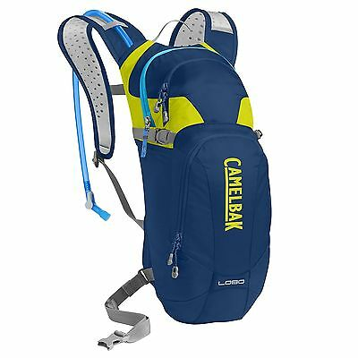 CamelBak Lobo Bike Cycling Water Drinks Hydration Pack - Pitch Blue/Lime Punch