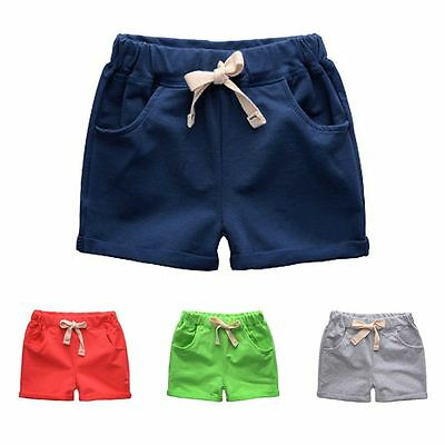 Toddler Kids Baby Boy Girl Cotton Beach Shorts Summer Shorts Pants Trousers