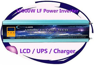 40000W/10000W LF Pure Sine Wave 12VDC/240VAC 50Hz Power Inverter LCD/UPS/Charger