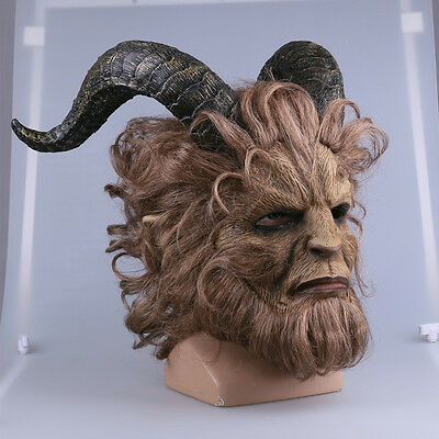2017 Beauty And The Beast Mask Prince Mask Horror Beast Wig Lion Mask