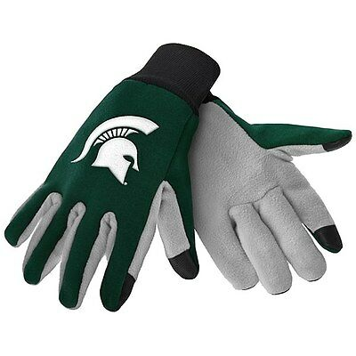 New! Michigan State Spartans Texting Cell Phone Gloves Glove Smart Touch Warm