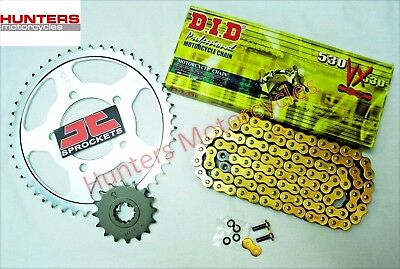 Yamaha FZ6 (2004 to 2009) DID Gold X-Ring Chain & JT Sprockets Kit Set 530 Pitch