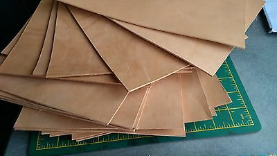 6 oz. 2,4mm Italian Leather Vegetable Tanned Leather Hide Bovine Cow Leather #18
