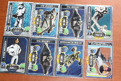 Star Wars Rebel Attax: 8x glitzer Holo Folie Karten - Topps TCG zu SW Rebels