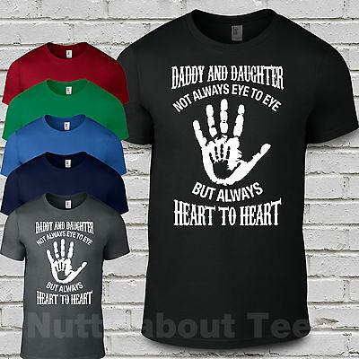Daddy and Daughter eye to eye heart to heart matching t shirts Fathers Day Gift