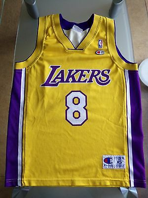 Jersey maillot XS KOBE BRYANT champion Lakers Los Angeles 90's