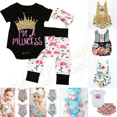 Newborn Unisex Baby Boy Girl Jumpsuit Toddler Bodysuit Outfit Romper Clothes Set