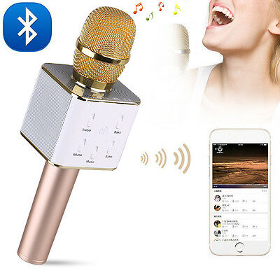Q7 Bluetooth Wireless Karaoke Microphone With Mic Speaker Handheld Portable