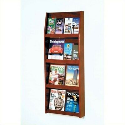 Wooden Mallet Literature Display in Mahogany Rack and Sorters