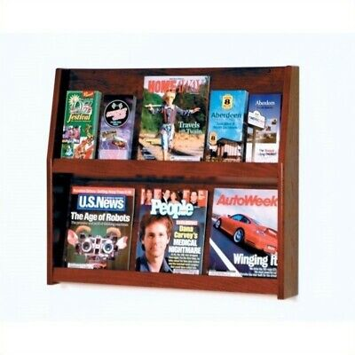 Wooden Mallet 12 Pocket Literature Display in Mahogany Rack and Sorters