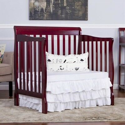 Dream On Me Aden Convertible 4-in-1 Mini Crib in Cherry Transitional