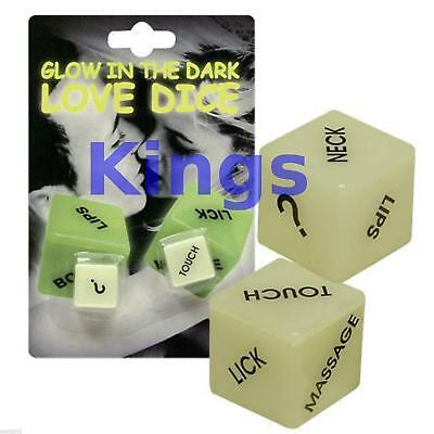 Glow In Dark Love Dice Game Fun Party Games Naughty Sex Aid Romantic Game