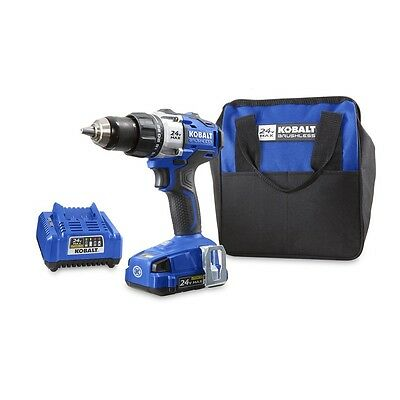 Kobalt Drill Driver 24V Max Lithium Ion 1/2in Cordless Brushless Battery Compact