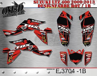 Motostyle Mx Dekor Kit Atv Suzuki Ltz 400 Ab 2009+ Graphic Kit Fox E3704 B
