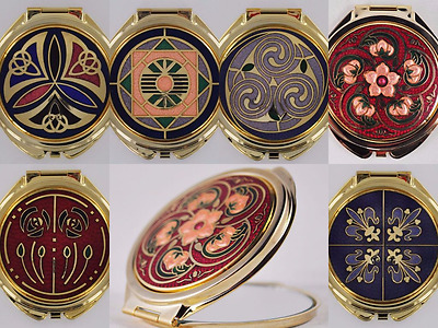 Celtic Patterned Compact Make Up Mirror 6 Designs Ladies Pocket Size Gift