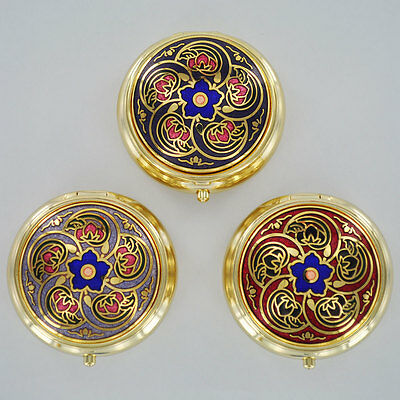 Celtic Designed Pill Boxes Small Art Deco Trinket Jewellery Ladies Gift Set of 3