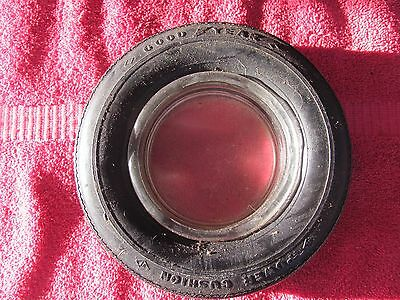 Old Vintage Goodyear Power Cushion Tire Advertising Ashtray Tubeless SIgn