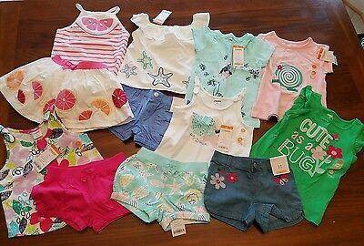NWT Gymboree Toddler Girls Lot - Spring and Summer Outfits- 12 Pieces