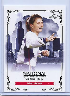 Mia Hamm 2013 Leaf Exclusive Collectors Convention Soccer Card! With Top Loader!