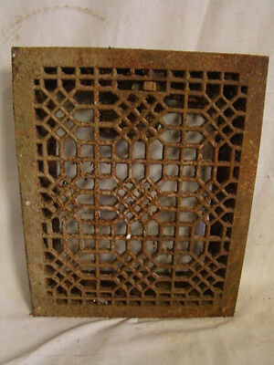 Antique Late 1800's Cast Iron Heating Grate Unique Ornate Design 16.75 X 13.75 B