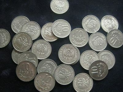 Poland 10 Groszy 1966 BU LOT OF 25 BU coins