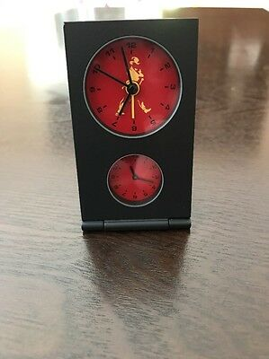Johnnie Walker Travel Clock ****VERY RARE**** With Leatherette Case.