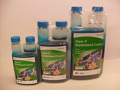 NT Labs Aquaclear Algae Blanketweed Control 250ml 500ml 1000ml Pond Treatment