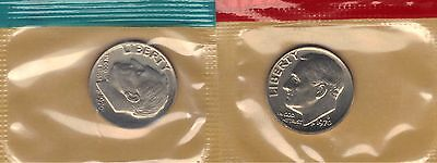 1970-P & D Choice Uncirculated Roosevelt Dimes In Mint Set Cello.