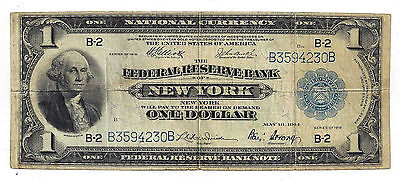 FR-710 1918 USA One Dollar National Currency Federal Reserve Bank Note