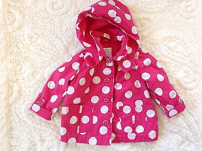 Baby Girl Pink Poka Dot spring jacket 9-12 Months Childrens Place Hooded Coat