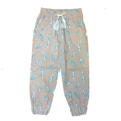 NEW Abby Harem Pants Feather Print