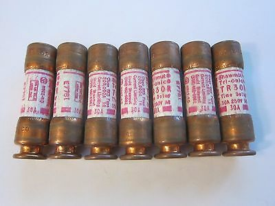 NEW Ferraz Shawmut TR30R Time Delay Fuse 30 Amp Lot of 7 LOTS More Listed