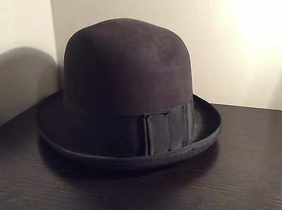 Vintage Stratton Fifth Avenue Black Gray Wool Hat Size 7 1/4