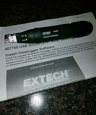 EXTECH 407760, USB Sound Level Datalogger used