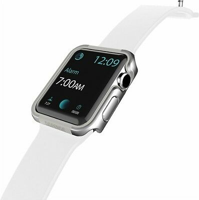 X-Doria Defense Edge Apple Watch 38mm Protective Cover Aluminum Bumper Silver