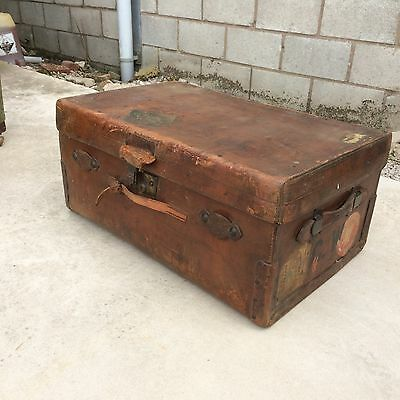 vintage leather suit case/ suitcase