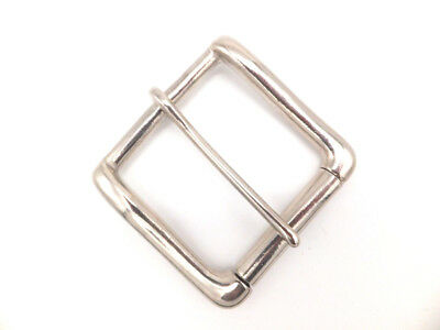 "2""  50 mm Heavy [ NICKEL PLATED ]  on Brass West End Roller Buckle Leather craft"