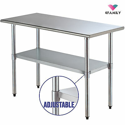 """24"""" x 48"""" Prep Table Commercial Stainless Steel Work Food  Kitchen Restaurant"""