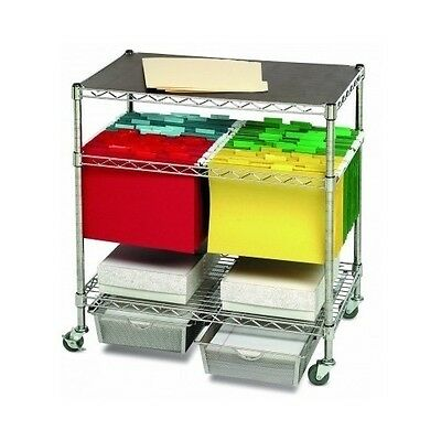 Mobile File Cart Rolling Storage Office Organizer Hanging Letter Legal Home New